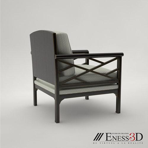 Pro Chair Chinoiserie 304317 Baker 3d Model Max Obj Fbx