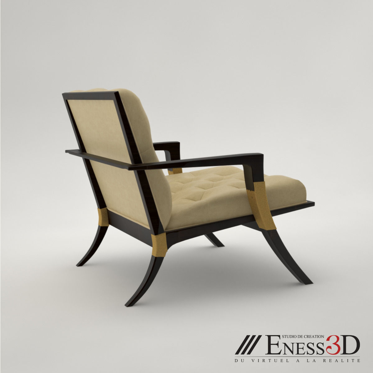 Pro baker athens lounge armchair 3d model max obj fbx for Chair 6 mt baker