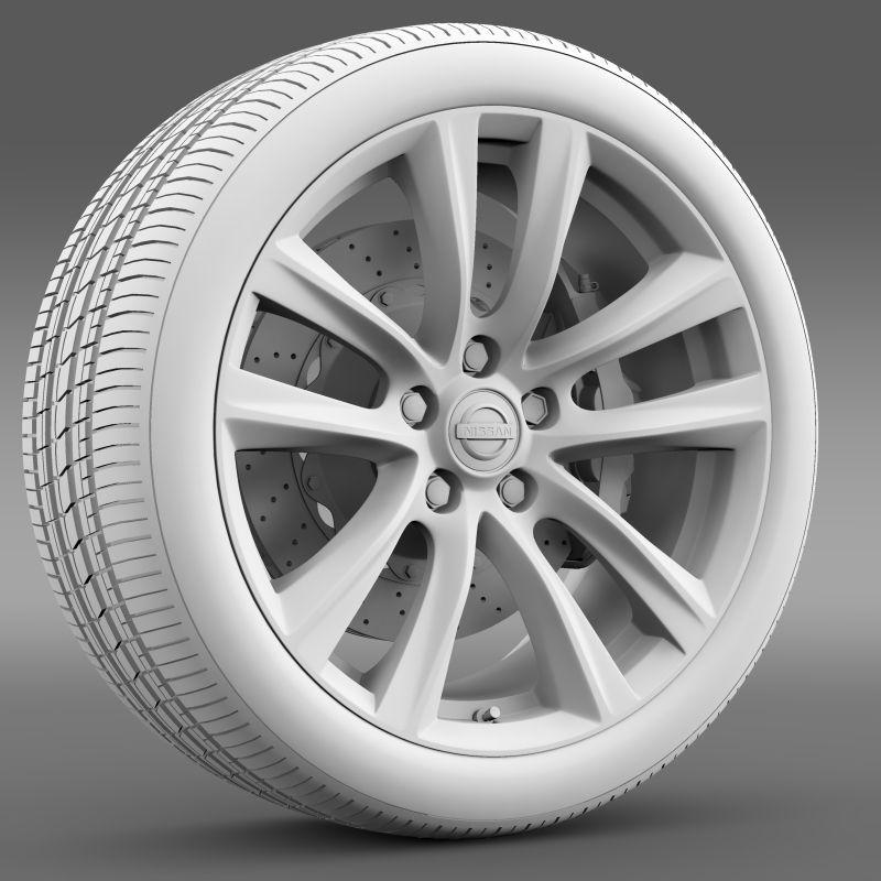 Nissan Fuga Hybrid Wheel 2015 3D Model MAX OBJ 3DS FBX C4D
