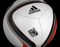 Official Adidas Euro 2016 Qualifier Ball 3D Model