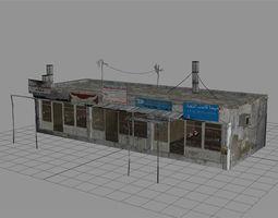 3d model arab city building - building c