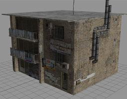 realtime arab city building - building e 3d asset
