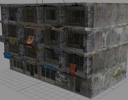 3d model arab city building - building g
