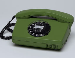 Rotary Telephone FeTAp 791 3D