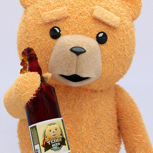 teddy bear - beer for bears 3d model max obj fbx mtl 1