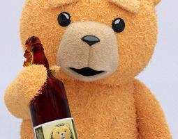 teddy bear - beer for bears 3d model max obj fbx