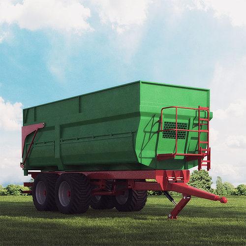 trailer 09 am 146 3d model max obj fbx c4d mtl 1