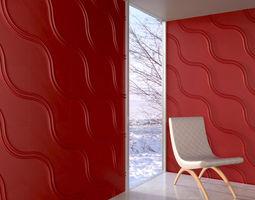 wall panel 080 AM147 3D model