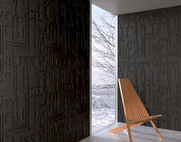 wall panel 085 AM147 3D