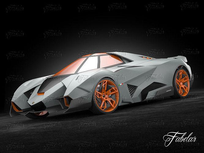3d Model Lamborghini Egoista Cgtrader