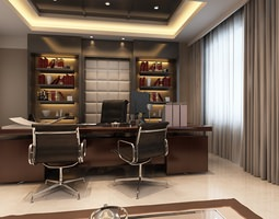 Photoreal Executive Office 3D model