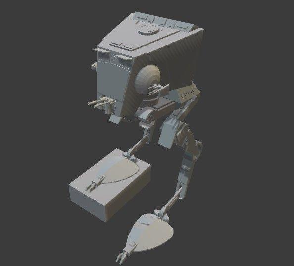 Star Wars AT-ST 3D Model 3D Printable STL