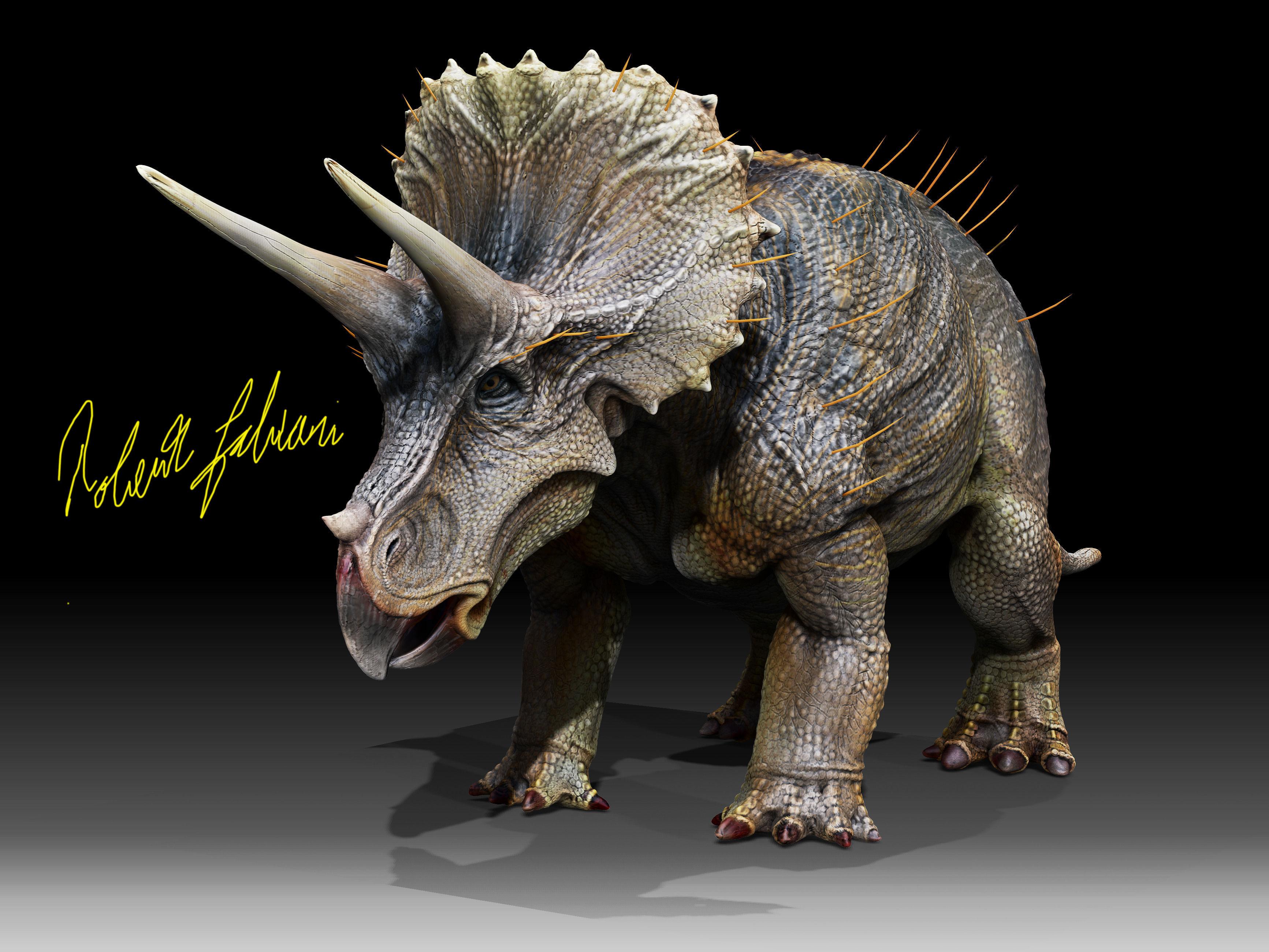 3d asset triceratops horridus cgtrader