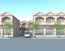 3d model flat house 01