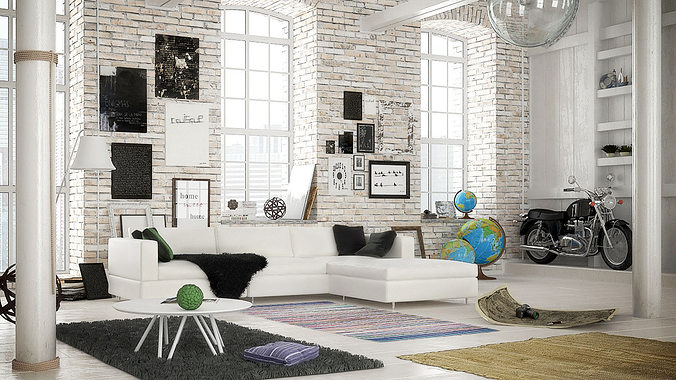 Archinteriors for c4d vol 37 3d model cgtrader for Living room cinema 4d
