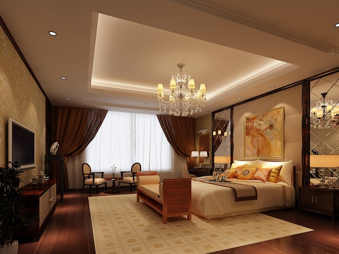 Bed Room Photoreal 3d Model Max