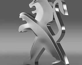 Peugeot Logo 3D