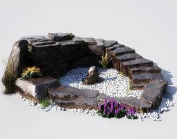 garden pond 12-01 AM148 3D model