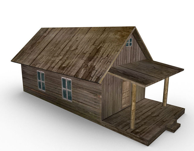3d model old farm house cgtrader for Exterior 3d model