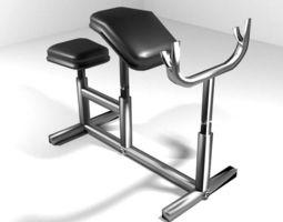 Exercise Machine Armcurl Bench 3D
