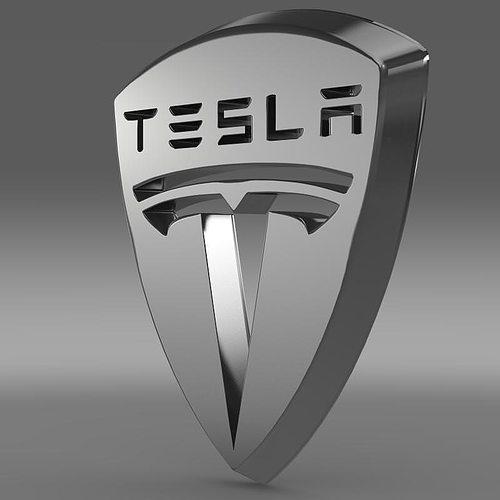 Tesla Motors Images Tesla Model S Larson Sketches: Tesla Logo 3D Model