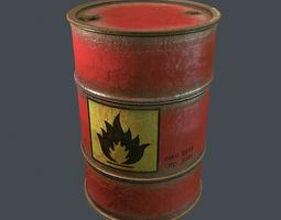 3d model flammable barrel