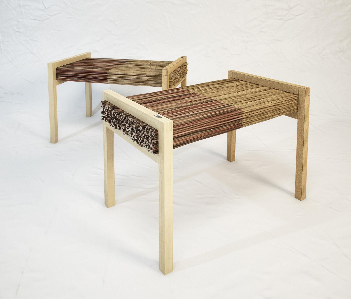 STUDIO VACEK Haluz bench by Tomas Vacek
