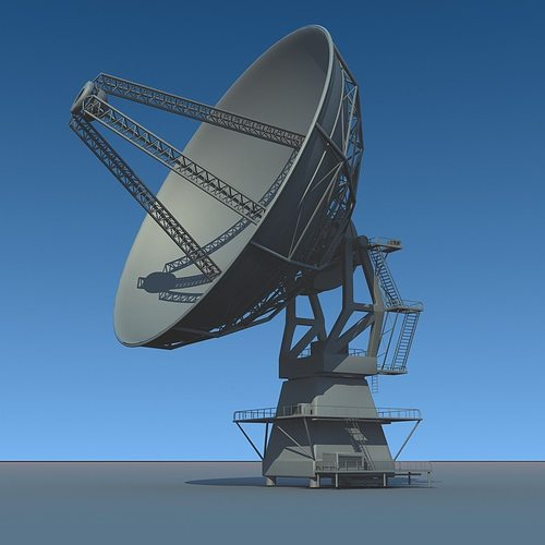 radio telescope antenna 3d model max obj mtl c4d lwo lw lws hrc xsi dae 1