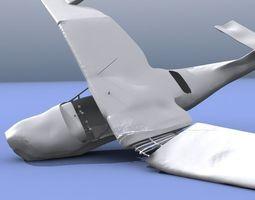 3d model plane wreck