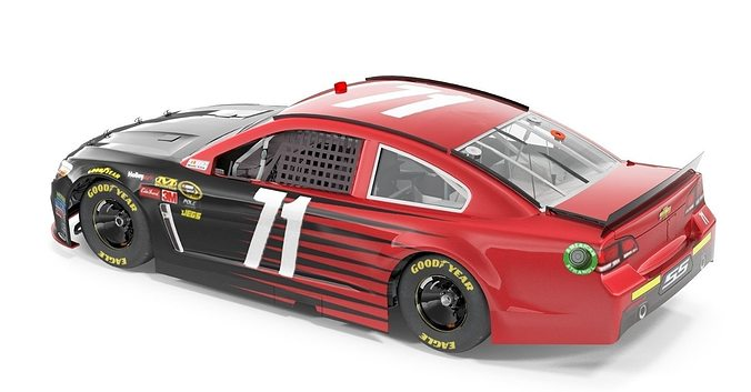 nascar car 3d model max obj fbx dae mtl 1