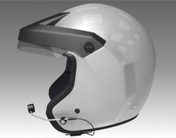 3D model Rally Car Helmet