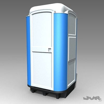wc portable 3d model max 3ds fbx dxf 1