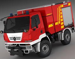 3d model mercedes unimog u20 fire truck