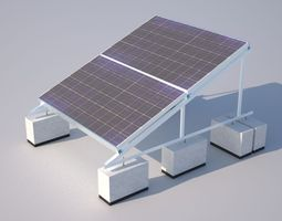 3d asset game-ready solar installation accurate and actual construction detail