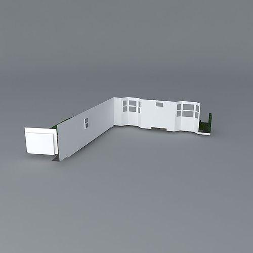 Front garden design free 3d model max obj 3ds fbx stl dae for Garden design in 3ds max