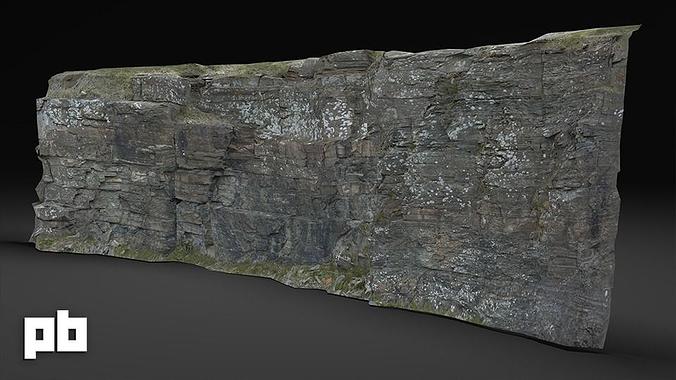 rock cliff 1 3d model low-poly max obj fbx ma mb mtl tga 1