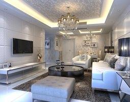 3d photorealistic living room