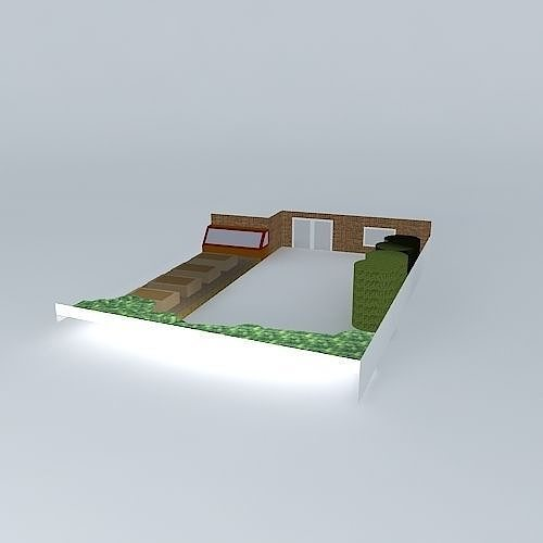 Simple garden design with raised beds free 3d model max for Garden design in 3ds max