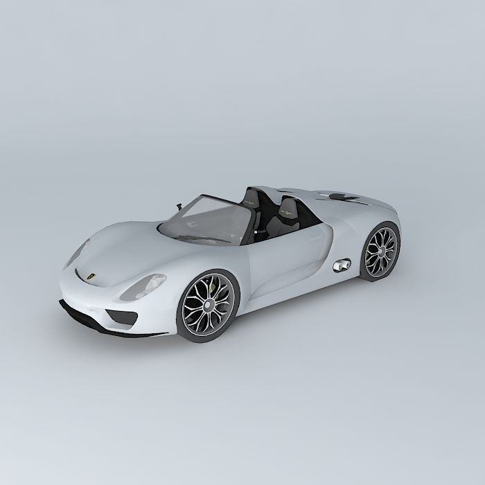 porsche 918 spyder concept 2010 free 3d model max obj 3ds fbx stl dae cgtra. Black Bedroom Furniture Sets. Home Design Ideas