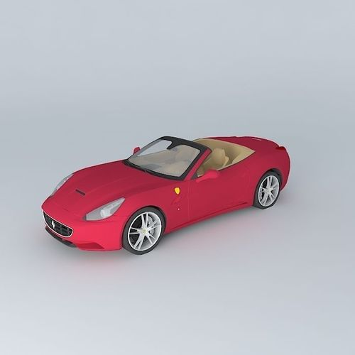 2016 Ferrari California Interior: Ferrari California 2010 Free 3D Model MAX OBJ 3DS FBX STL DAE
