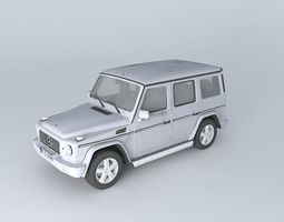 3d model mercedes-benz g500 helendwagen