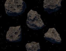 astroid set 3D asset
