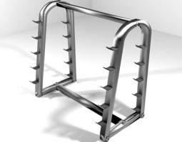 Exercise Storage Barbell Rack 3D model