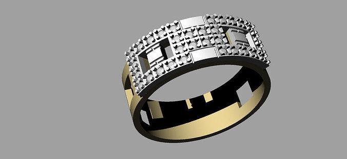 wedding ring buckle 3d model 3dm 1