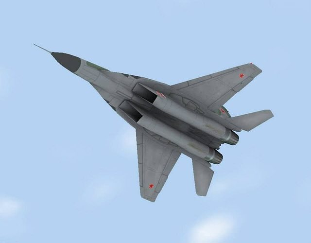 mig-29 fulcrum russian 3d model low-poly flt 1