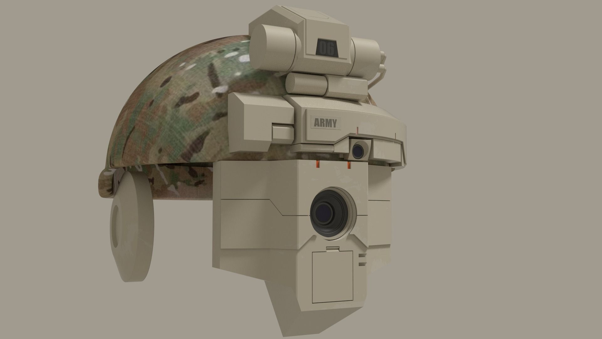 sci fi military helmet | 3D model