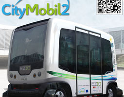 driverless citymobil wepod bus 3d model low-poly rigged max 3ds