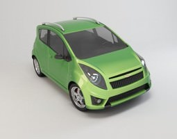 Chevrolet Spark 2010 3D model materials