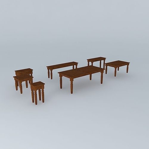 Sourav Tables 3d Model Max Obj Mtl 3ds Fbx Stl Dae 1 ...