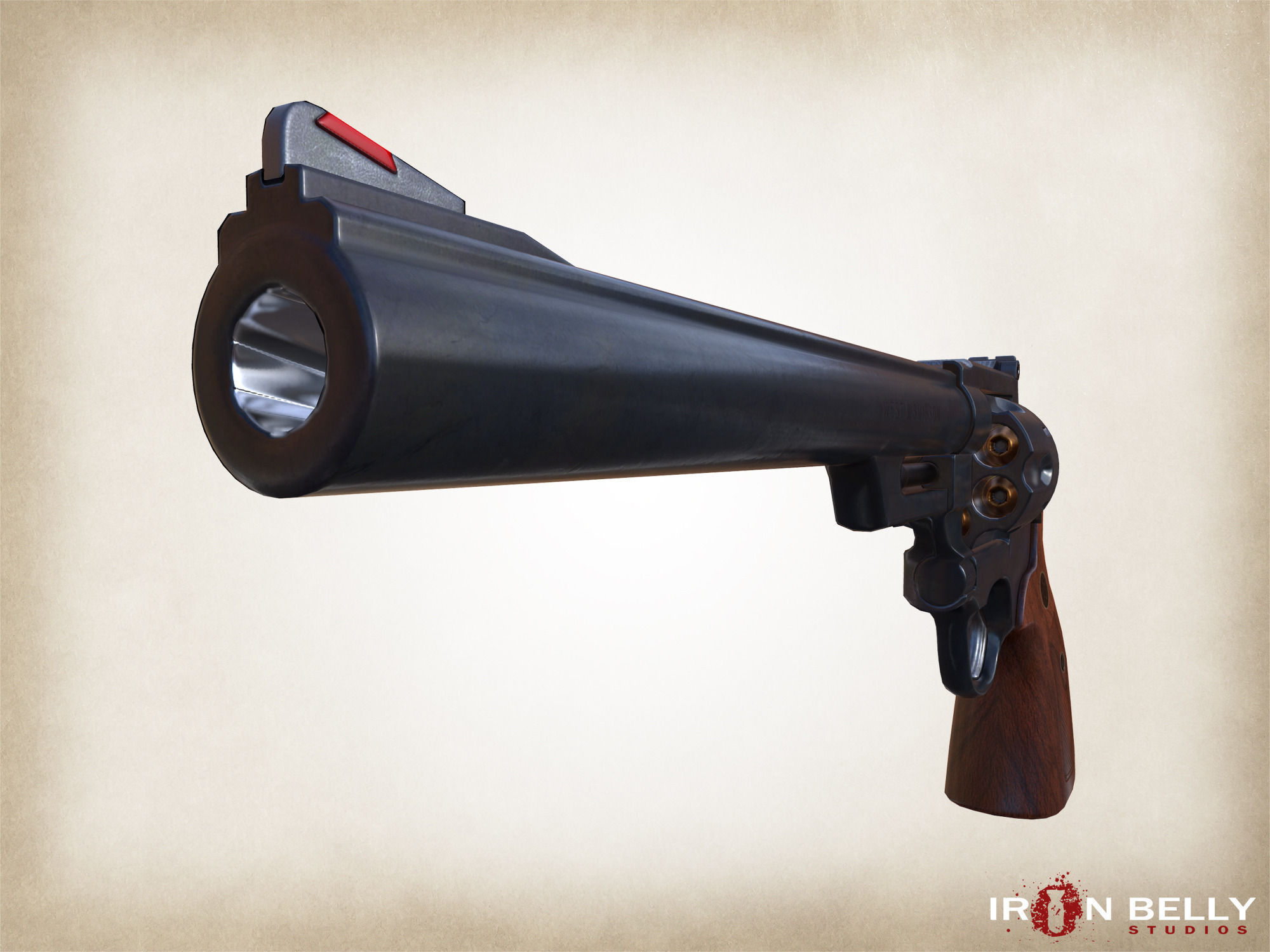 3d model aaa fps 44 magnum revolver game ready cgtrader